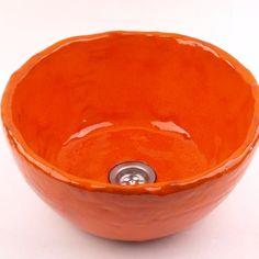 umywalka+soczysta+pomarańcza+w+dekornia+na+DaWanda.com