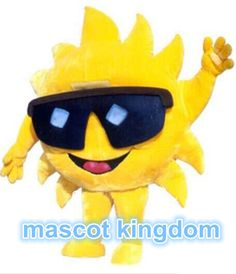 Best Quality Mr Sun Mascot Costume Cartoon Christmas Party Dress Free Ship Adult #MascotKingdom #CompleteOutfit