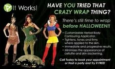 Halloween is almost here! Tighten, tone & firm anywhere on body in as little as 45 min Https://EnjoyTheNewYou.myitworks.com