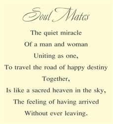 $24.99   Soul Mates the quiet miracle of a man and woman uniting as one Vinyl Wall Art Decal Sticker