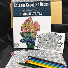 Coming soon: our Bid Day Bundles! Can you believe that recruitment is just around the corner? Get a head start on planning the red carpet roll-out for your new members! . >>>>> . Looking for something truly unique? Sorority coloring books are exactly what you need! Pair them with coloring postcards notecards posters and colored pencils for a never-before-seen bid day gift bag. . >>>>> . Looking for something more personalized? DM us; we lovecustom orders! . >>>>> . #comingsoon…