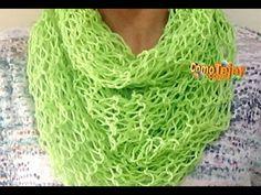 Cómo Tejer Bufanda Mágica de Verano-How to Knit Summer Scarf 2 Agujas (227), My Crafts and DIY