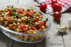 insalata di ceci e pomodorini