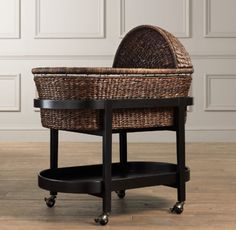 For our bedroom: Heirloom Bassinet & Mattress - modern - cribs - Restoration Hardware Baby & Child