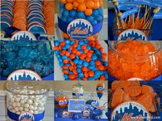 Mets Blue and Orange Candy Buffet by 24 Carat #sports #mets