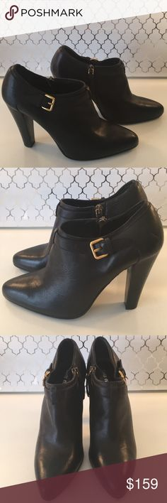❤️MIU MIU HEELED BOOTIES AUTHENTIC MIU MIU LOVELY HEELED BOOTIES 100% AUTHENTIC! TRUE SUPER HIGH END LUXURY AND STYLE! SO PRETTY AND TOTALLY ON TREND. THEY ARE A EUROPEAN SIZE 36.5 WHICH CONVERTS TO AN AMERICAN 6.5. THE COLOR IS BLACK AND THEY ALSO HAVE SIDE ZIPPERS. THE HEEL HEIGHT IS 4 INCHES. THEY HAVE A FEW MODEST SMUDGES AND HEEL SCRAPE. HOWEVER OVERALL THEY ARE LOVELY AND HAVE MANY YEARS OF HIGH FASHION WEAR IN THEM! Miu Miu Shoes Ankle Boots & Booties