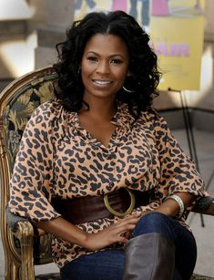 Nia Long with curly hair