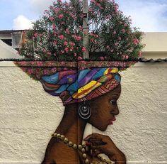 Impressive & Creative Mural Tree Hair Street Art Graffiti Ideas - Home & Garden: Inspiring Interior, Outdoor and DIY Ideas 3d Street Art, Murals Street Art, Amazing Street Art, Art Mural, Street Art Graffiti, Art Du Monde, Urban Nature, Art Nature, Arte Pop
