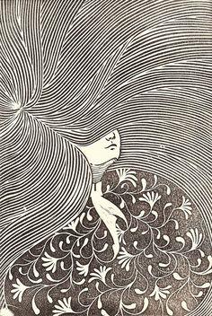 """Weeping Willow"" Linoleum engraving by Alejandro Armenta Art And Illustration, Illustrations Posters, Linocut Prints, Art Prints, Block Prints, Ap Art, Art Drawings, Artwork, Weeping Willow"