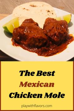 Mexican Menu, Mexican Food Recipes, Dinner Recipes, Mexican Style, Mexican Chicken Mole, Mole Sauce, Just Eat It, How To Eat Better, Chicken Seasoning