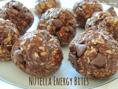 No Bake Nutella Energy Bites | Cozy Country Living #nutella #nobake #snacks