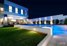 OFTB Melbourne landscaping, pool design & construction project - pool inc. windows, spa, entertaining lounge inc. bbq, pool terraces, pool deck, service area inc. toilet, courtyard, lawn, garden beds