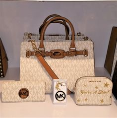 e99023cec06e Michael Kors Nwt 4 Pc Hamilton Ew & Wallet & Makeup Case &key Fob Msrp $898