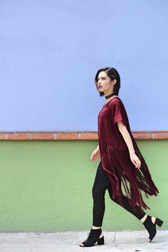 083f2fbbc1 5 outfits de otoño con 1 huipil de flecos Recrear – México a colores
