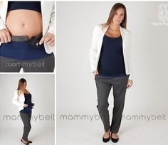 Três acessórios chave para aproveitar suas roupas atuais durante a gravidez: Mammybelt, extensor para calças
