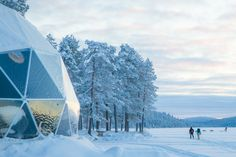 (PHOTO: Torassieppi Harriniva Hotels and Safari)  Where to go for a white Christmas:  Glamp out by a frozen Finnish lake : Harriniva's igloo-shaped Aurora Domes are the first of their kind in Finland, set on the banks of Lake Torassieppi and far from any bright lights. The transparent wall provides an exceptional view of the surrounding scenery and makes for spectacular stargazing and Northern Lights viewing. The luxury glamping tents invite guests to stay cosy under canvas and enjoy the…