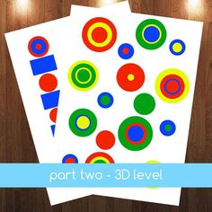 Montessori Knobless Cylinder Extension Patterns & 3D by jojoebi Get your at http://www.etsy.com/listing/179140550/montessori-knobless-cylinder-extension #montessori $5