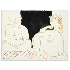 Artistic Pablo Picasso - 27.1.54.I, Lithograph Print, 32 x 24cm