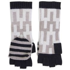 Modern Fashion Accessories | Stepped Chevron Mittens/Glove Popovers | Jonathan Adler