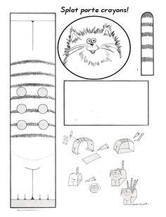 Chat porte-crayons - coraliecaramel
