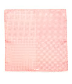 Geo Zone pocket square - Salmon Pink | Ties, Bow Ties, and Pocket Squares | The Tie Bar