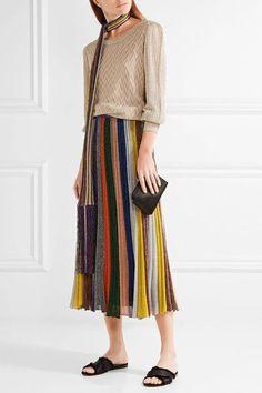 Missoni - Metallic Crochet-knit Sweater - Bronze - IT