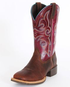 Ariat® Ladies' Hybrid Rancher Brown Oiled Rowdy Fig Boots