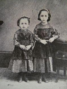 2 Pretty Little Girls~Matching Dresses~Civil War Era CDV Photo~Brookville PA | eBay