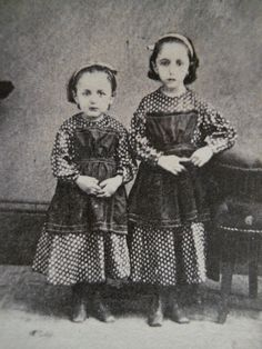 2 Pretty Little Girls~Matching Dresses~Civil War Era CDV Photo~Brookville PA | eBay