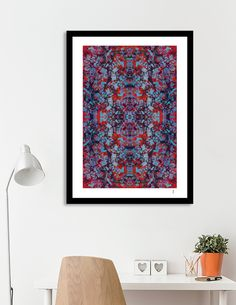 """Red Mandala"" Artprint by Philippe Intraligi - https://www.curioos.com/product/print/red-mandala  #artprint #decoration #print #art #gift #Mandala #artdeco"