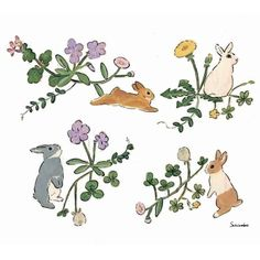 Bunny Painting, Bunny Drawing, Bunny Art, Rabbit Art, Japanese Artists, Cute Illustration, Illustrations, Cute Drawings, Cute Art