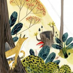 """50 Likes, 7 Comments - Czary Malary (@czarymalary) on Instagram: """"A part of illustration from my childrensbook (coming soon) ;) *** Dziś lis wychyla nos z przytulnej…"""""""