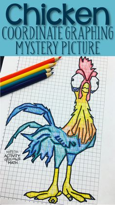 Chicken Coordinate Graphing Mystery Picture. Students will graph points on a coordinate plane that creates a popular chicken. Included are Student Instructions for both Quadrant One ONLY and instructions that include ALL four Quadrants! This makes a great early finisher activity, sub plans, or end of the year activity.