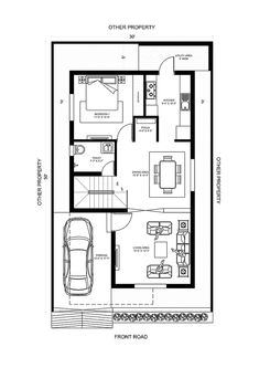 30x50 House Plans, Free House Plans, Home Free, Floor Plans, Map, How To Plan, Location Map, Maps, Floor Plan Drawing