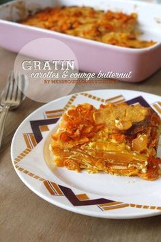Gratin d'automne - carottes et courge butternut Vegan Dinner Party, Dinner Party Recipes, No Salt Recipes, Sweet Recipes, Batch Cooking, Healthy Cooking, Low Fat Low Carb, Food Porn, Creative Food