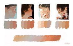 Digital Painting Tutorials, Digital Art Tutorial, Art Tutorials, Skin Color Palette, Design Basics, Drawing Reference Poses, Painting Process, Art Studies, Digital Illustration