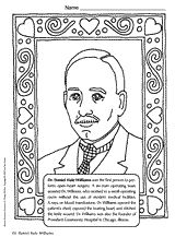 dr daniel hale williams coloring page