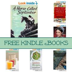Free Kindle Book List: A Horse Called September, Freezer Meals, Courting Cate, and More