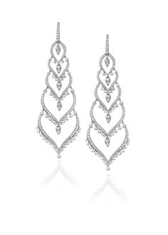 Stephen Webster Couture White Diamond Russia Earrings.
