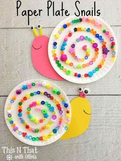 Paper Plate Snails Craft