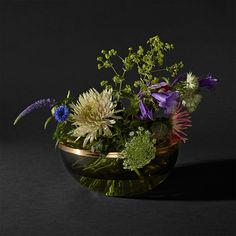 Total vase/bowl - black/brass