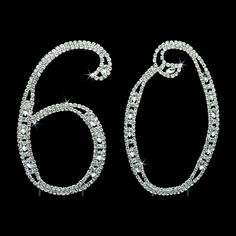 60th Birthday Cake Topper - Large 4.5 Inches Tall 60th Wedding Anniversary Cake Topper - Acrylic Rhinestone Number Cake Topper ^^ Special offer just for you. : Baking decorations