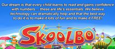 Skoolbo is a website with free games, ebooks, and more for younger kids aged 4-10 including math and literacy games. Very cool.