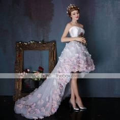 Dress - Multi-color Ball Gown Strapless Asymmetrical Tulle / Charmeuse 4249393 2016 – $179.99