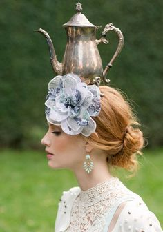Ruche Tea for Two Spring 2013 by Stephanie Williams Flower Hair Clips, Flowers In Hair, Blue Flowers, Spring Look, Dream Tea, Mad Hatter Tea, Mad Hatters, My Cup Of Tea, Floral Headbands