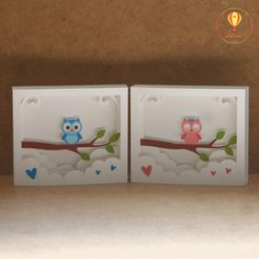 Cartão 3d - Coruja