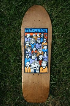 The New Deal Ed Templeton Skateboard deck early 90's