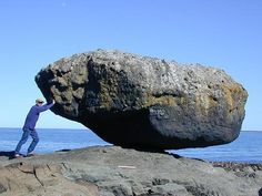 Balance Rock Photo - Queen Charlotte City, British Columbia Places Around The World, Around The Worlds, Charlotte City, Book Hotel Online, Balanced Rock, Haida Gwaii, Painted Hills, Rock Queen, Stone Sculpture