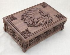 Jewelry Box carved with ornaments and motifs por BulgarMaster