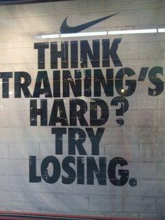 Yup. Losing is harder